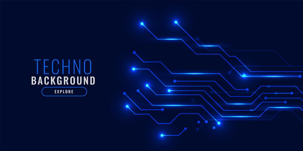 glänsande blå teknik bakgrund koncept