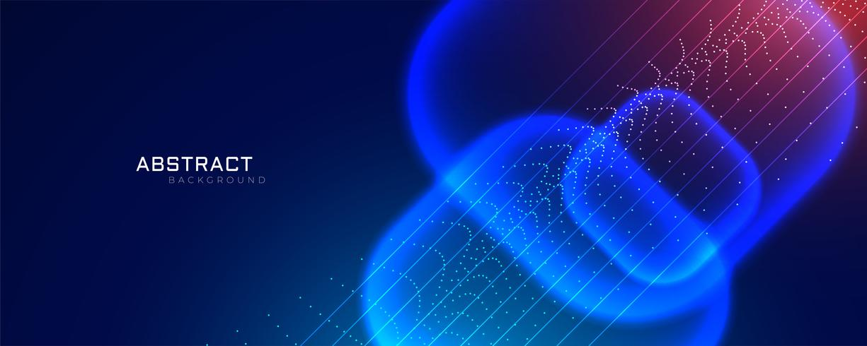 futuristic technology style banner with particle effect