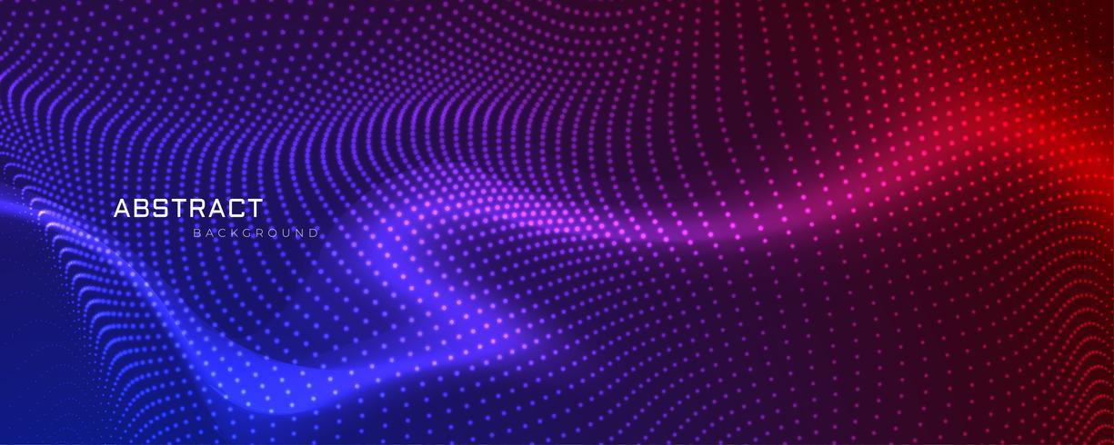 diseño de banner de partículas coloful abstracto