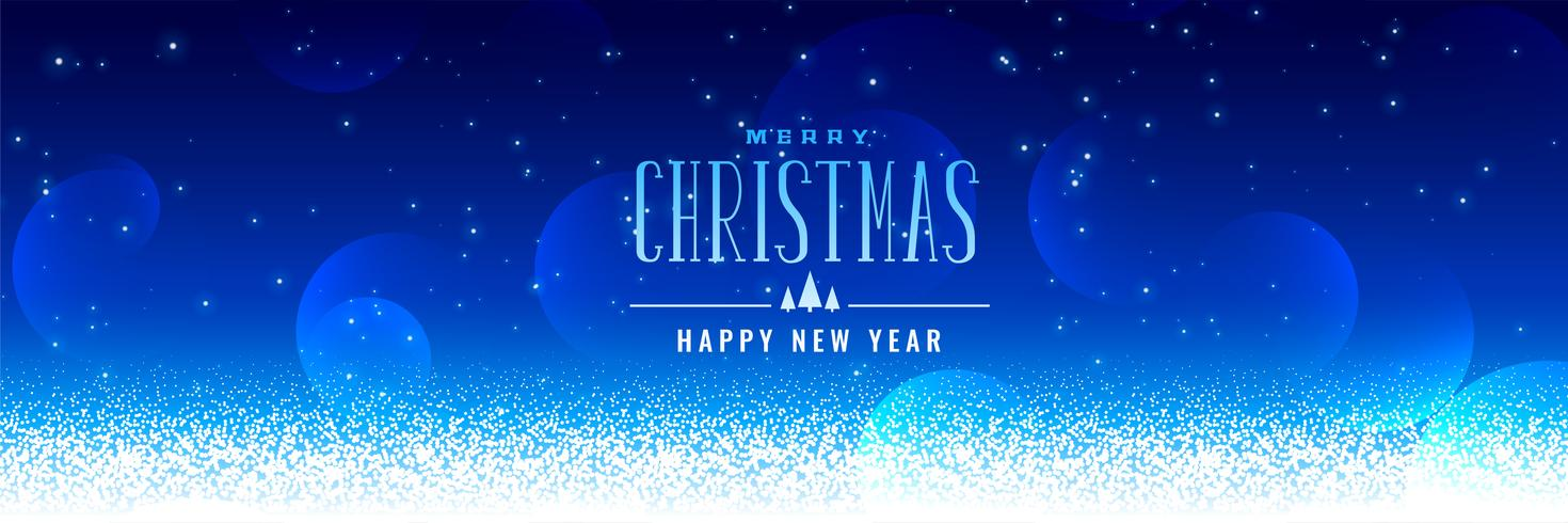 schöner Weihnachtsschneefallblauhintergrund