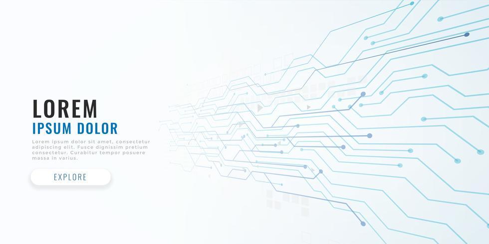 fundo de conceito de diagrama de circuito de tecnologia