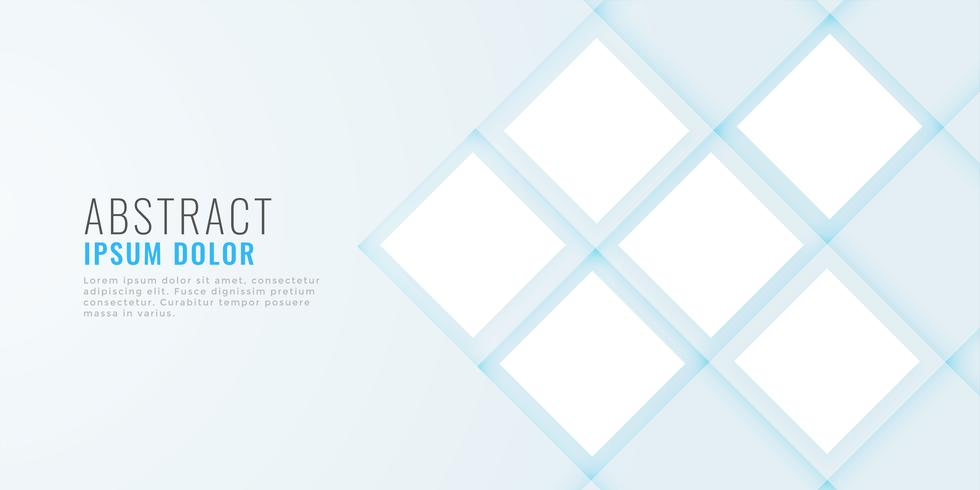 clean minimal web banner with image space