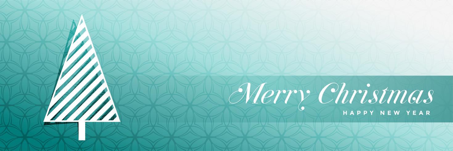 stylish christmas tree blue banner design