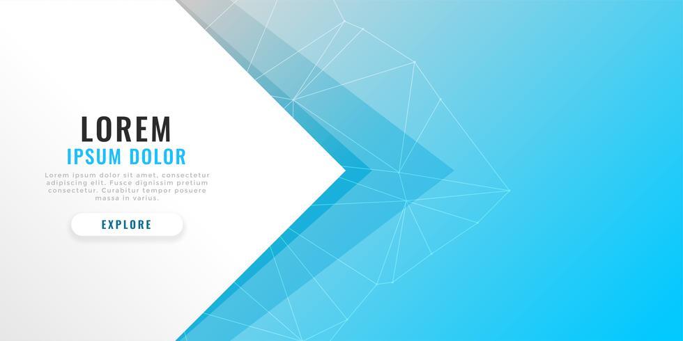 minimal blå banner med textutrymme