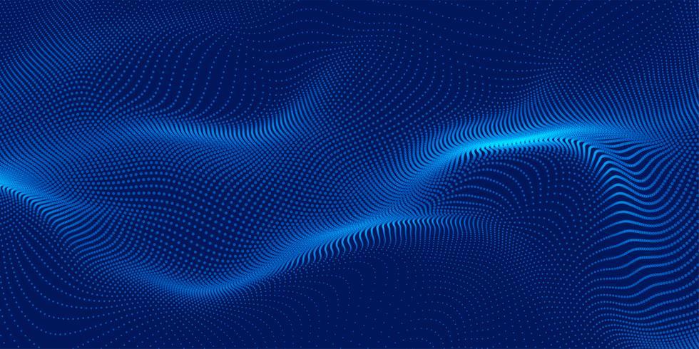 blue 3d particles background design