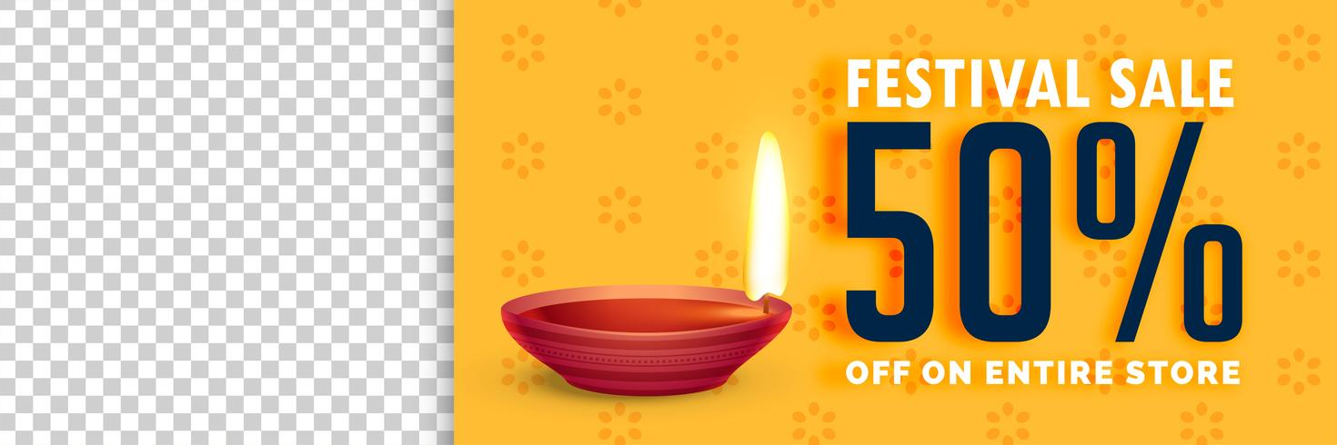 illustration of diwali sale with image space