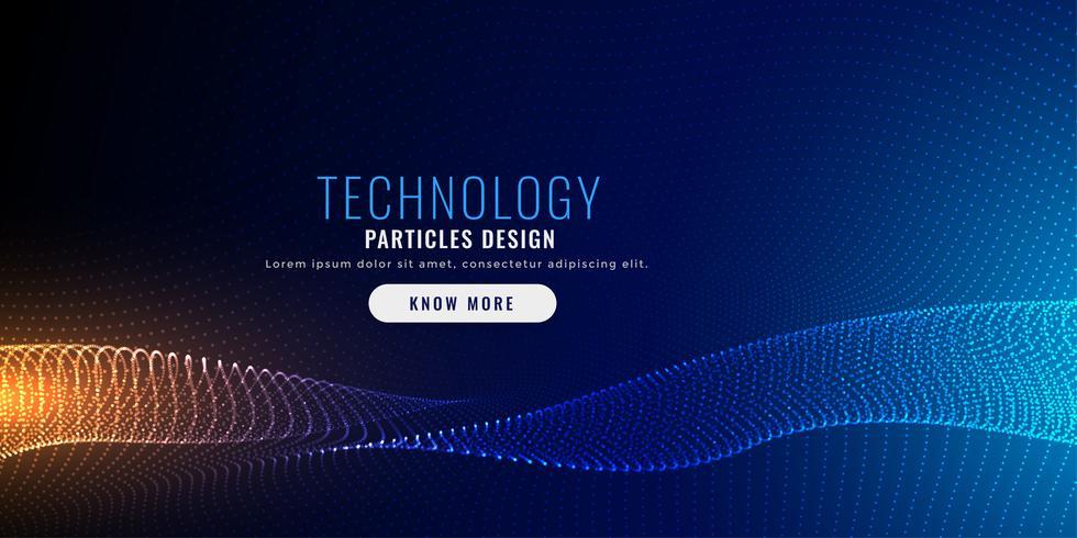 diseño de fondo de malla de partículas de tecnología