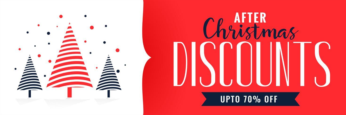 christmas discounts banner design template