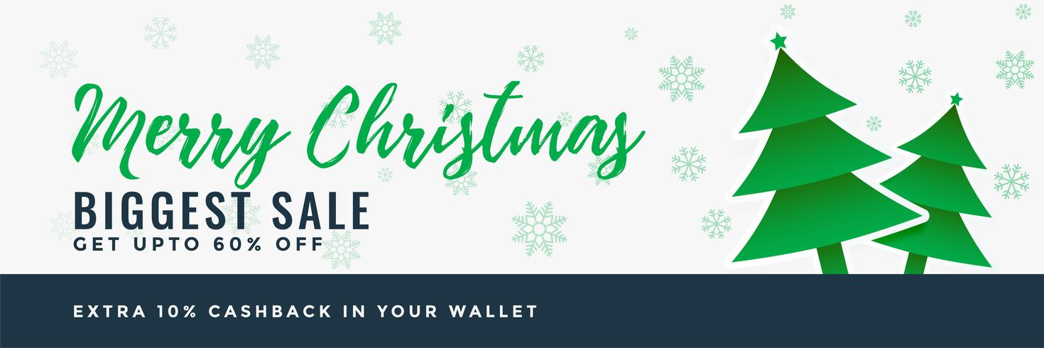 merry christmas sale banner design background
