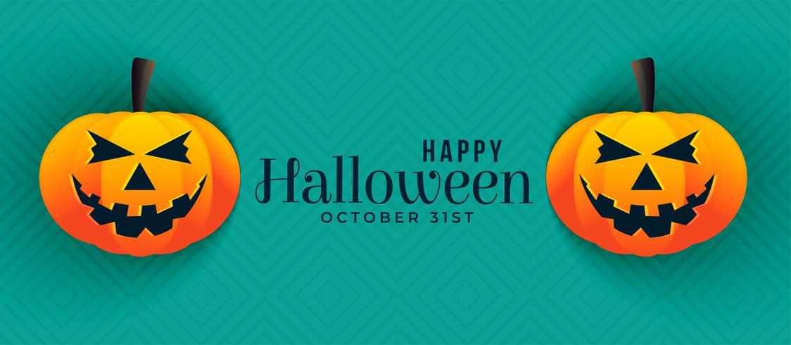 Lycklig halloween pumpa banners design