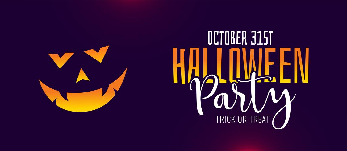 scary halloween party celebration banner design