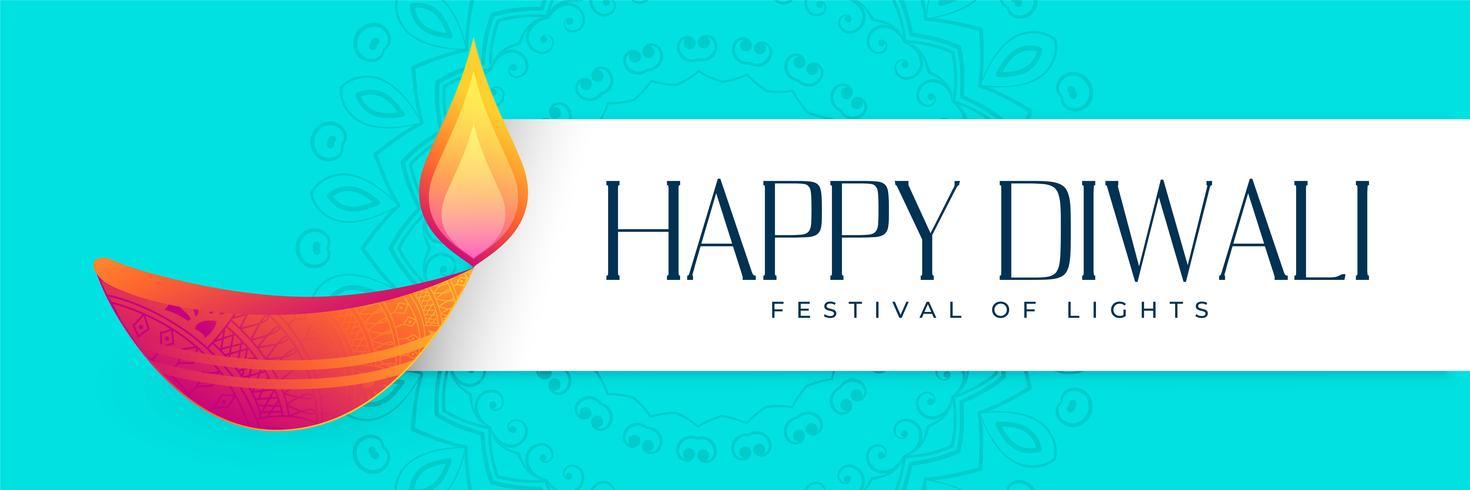 hindu happy diwali festival banner design
