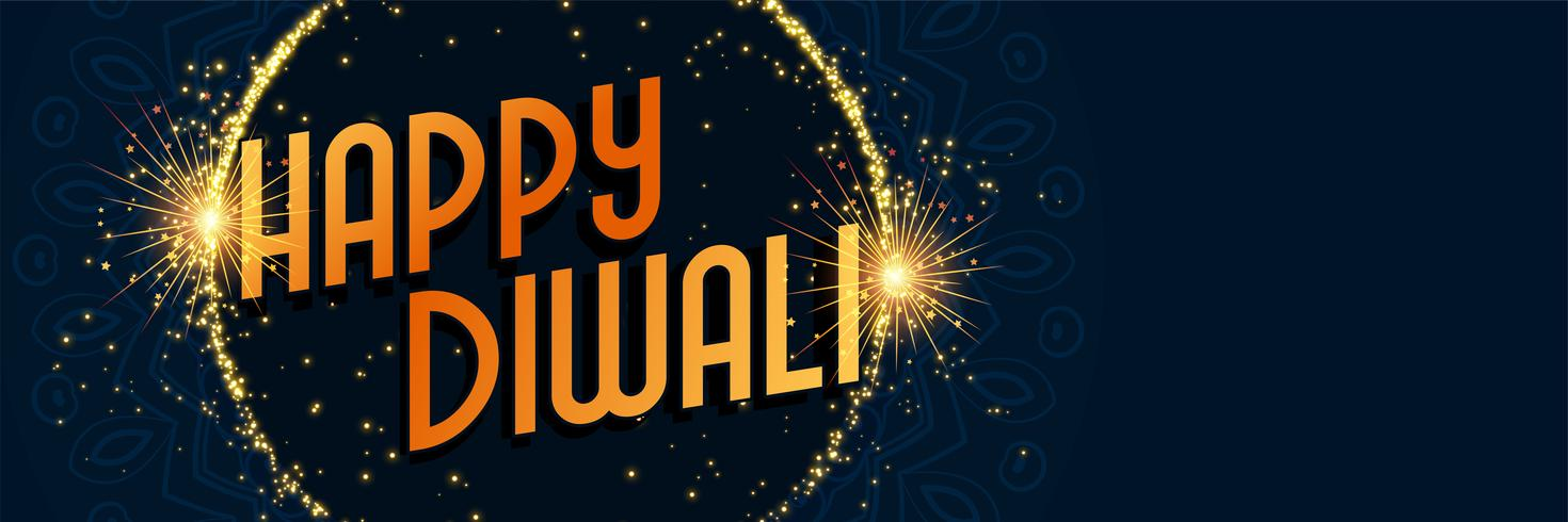 happy diwali sparkles background design
