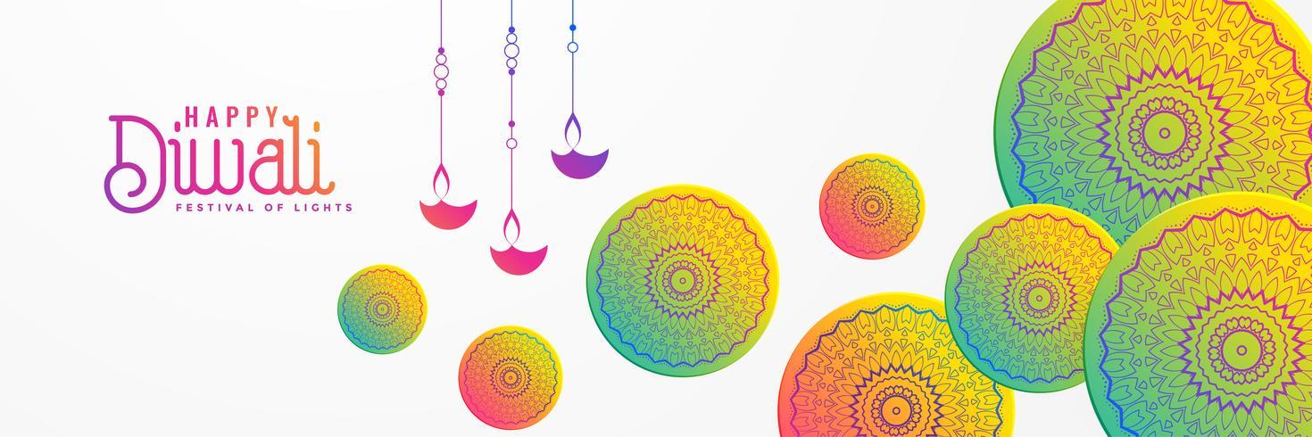 artistic diwali festival background with mandala decorative