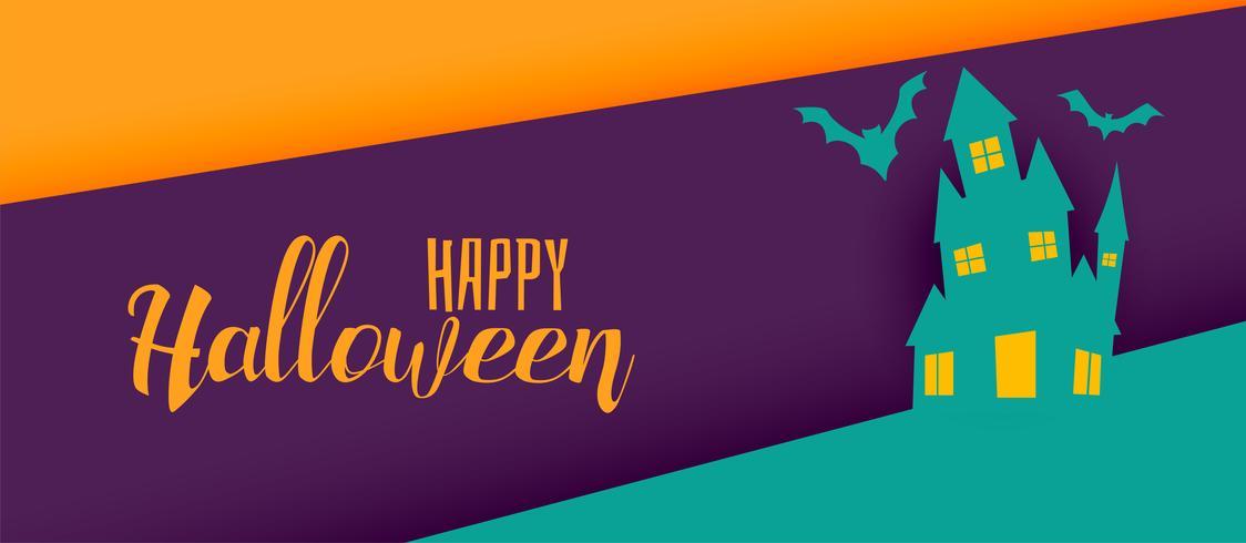 kreatives Halloween-Feiertagsfahnendesign