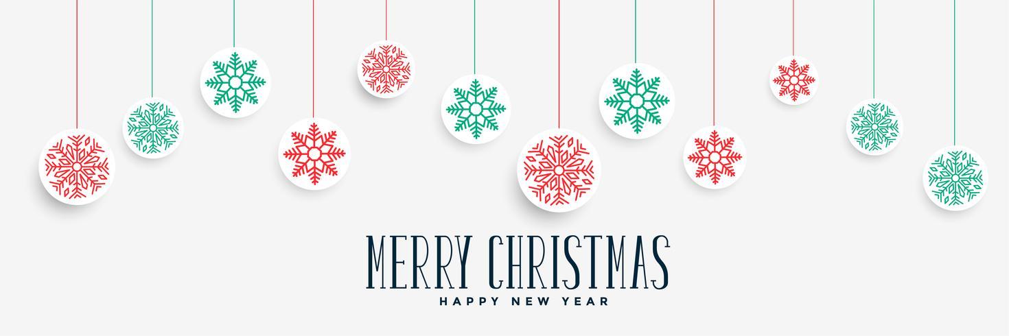 God jul, fantastisk banner design