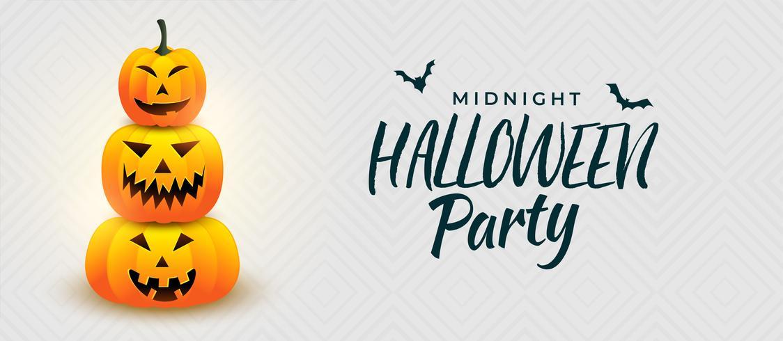 Halloween pimpkin partij ontwerp van de banner