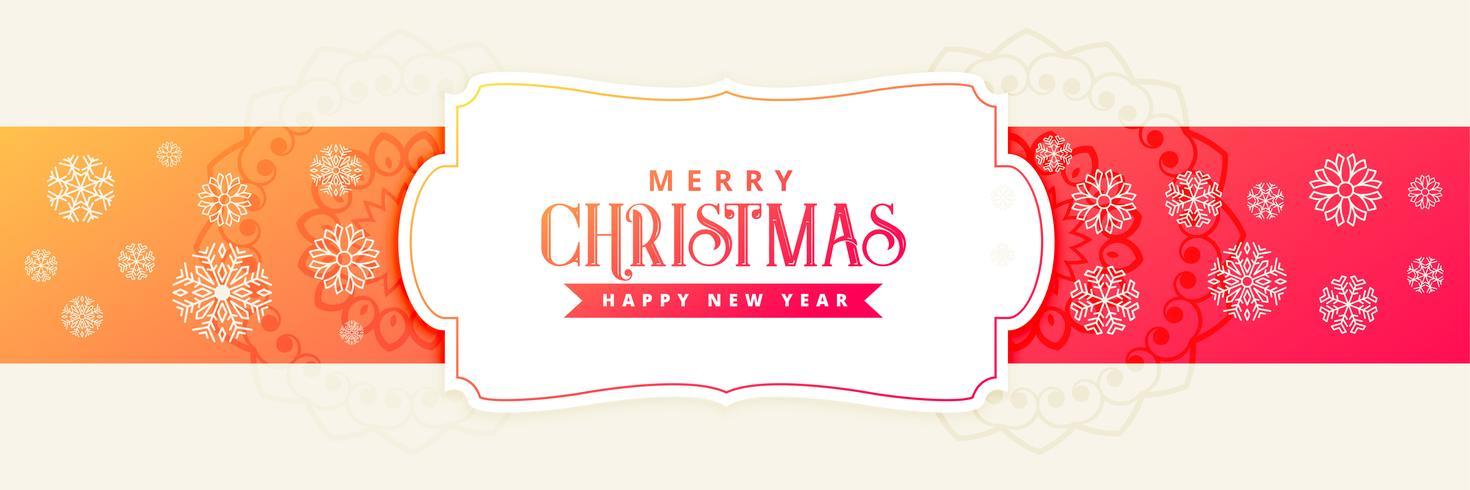 Kerst vakantie banner met sneeuwvlokken decoratie