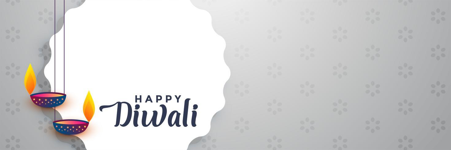 linda feliz diwali banner com espaço de texto