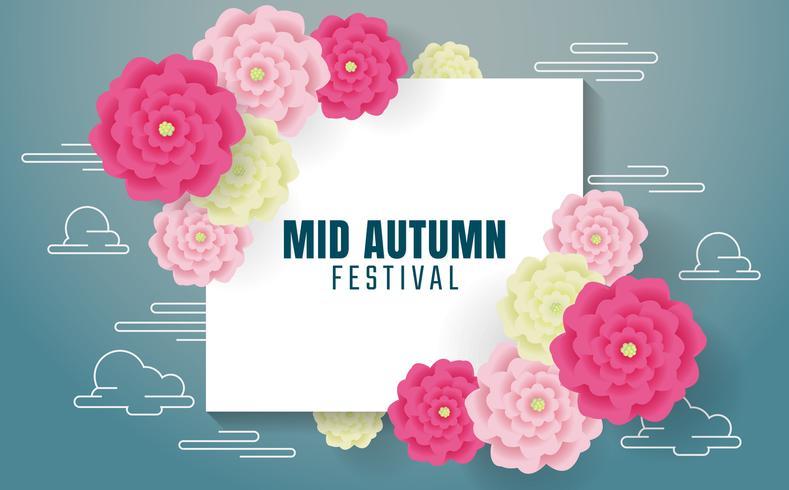 Fondo de vector de festival de otoño medio