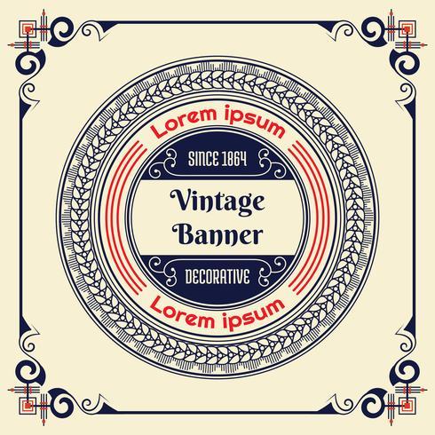 Vintage flyer achtergrond ontwerpsjabloon