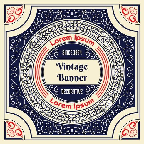 Fondo de flyer vintage diseño plantilla