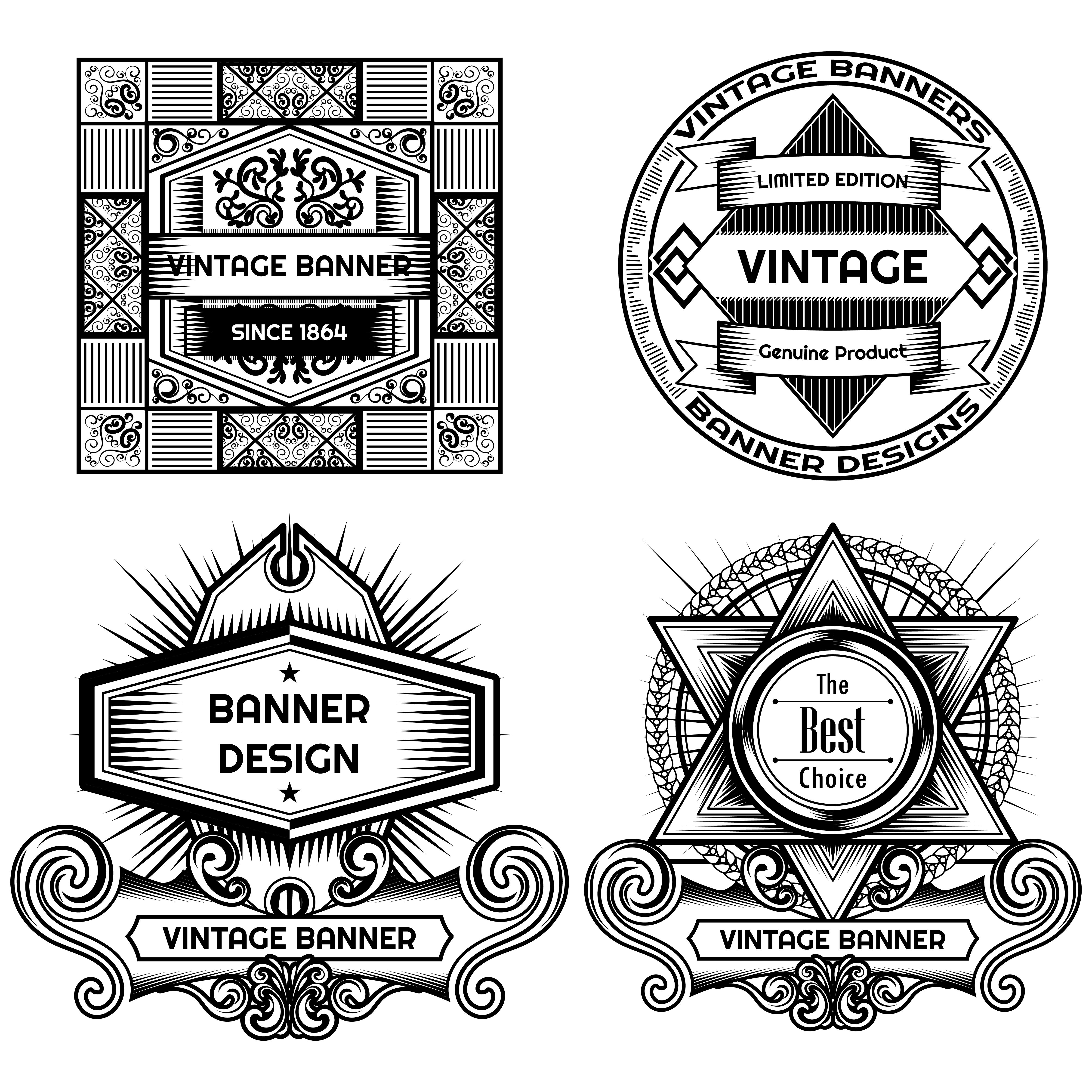 Vintage background label Design Template - Download Free ...