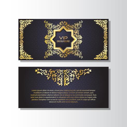 Fondo de oro volante estilo plantilla de diseño
