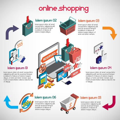 illustration of info graphic business set concept vector