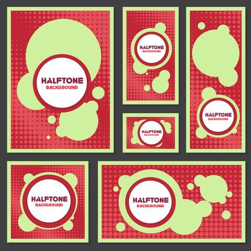 vintage halftone style background Design Template vector