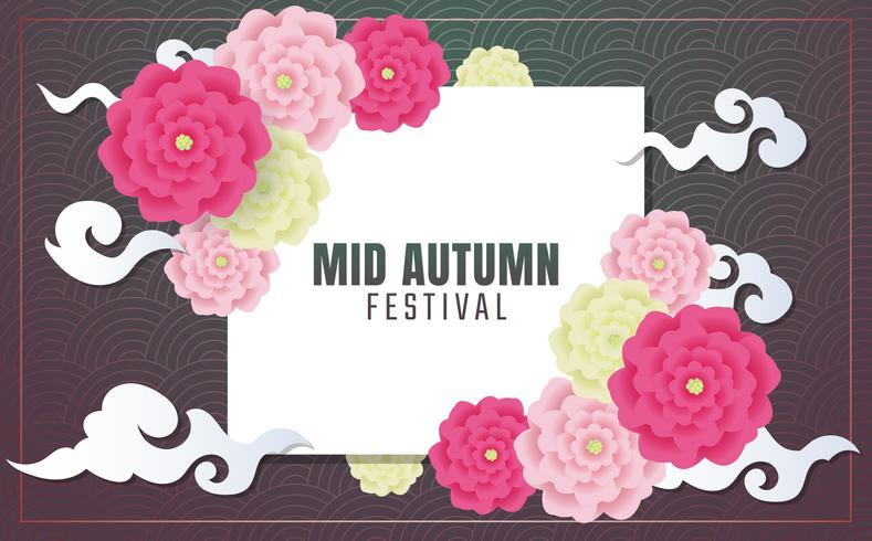 Meados de outono festival de fundo Vector