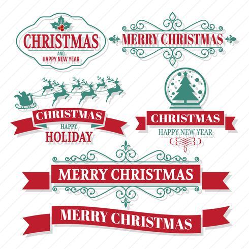 Christmas Vector Logo for banner