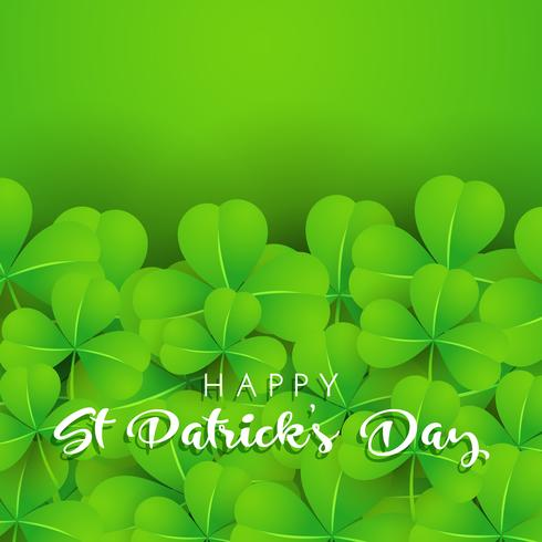 Background of shamrock for St Patrick's Day