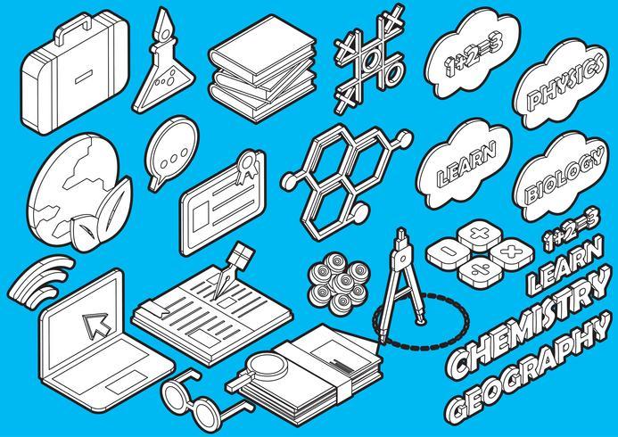 l'illustrazione delle icone grafiche di istruzione di informazioni ha fissato il concetto