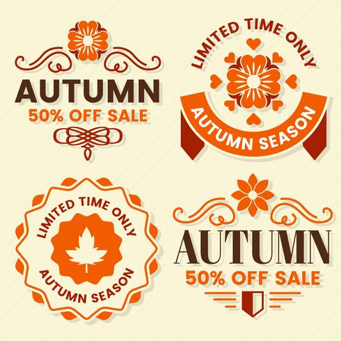 Autumn Label Vintage Vector Logo per banner