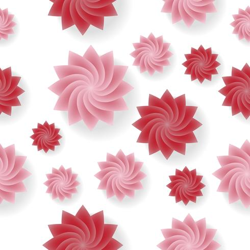 Fondo inconsútil del vector del modelo de flor