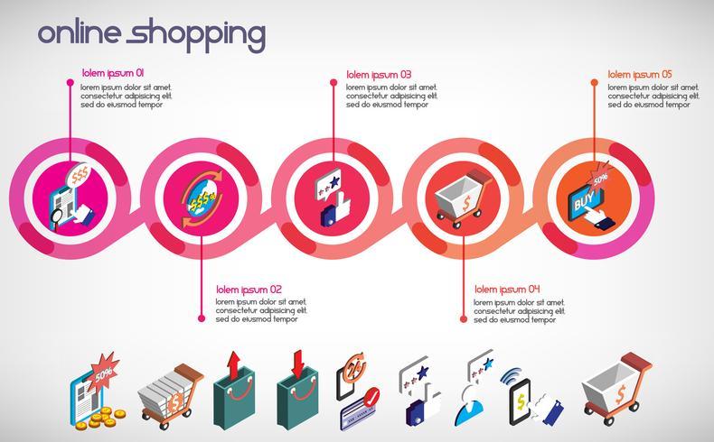 Ilustración de la información gráfica negocio conjunto concepto