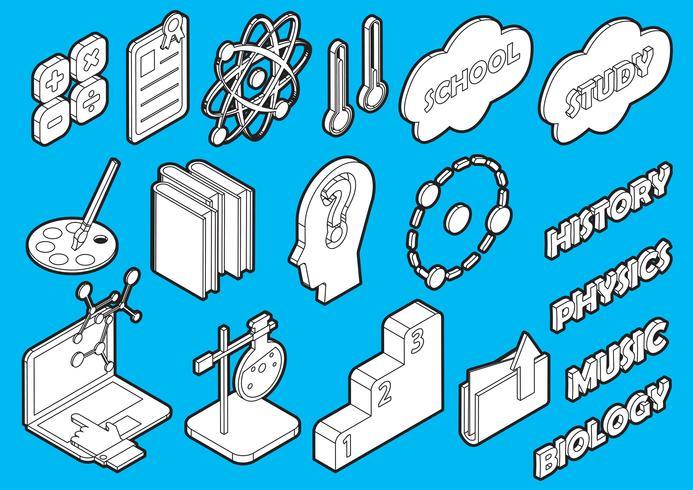 Ilustración de conjunto de iconos de información gráfica educación concepto