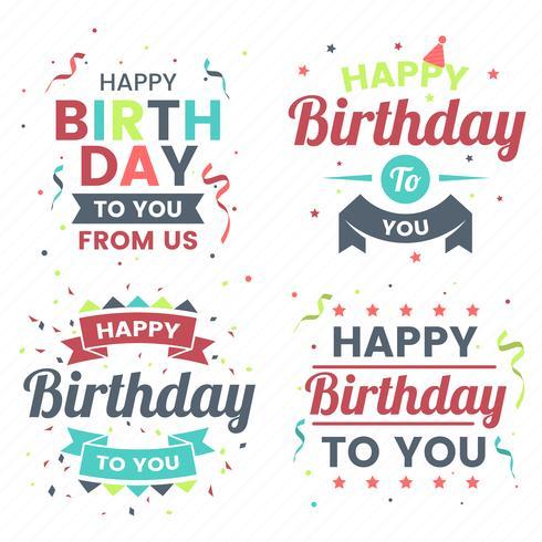 Feliz cumpleaños vector logo para banner
