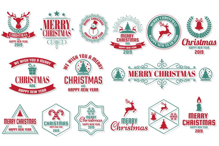 Jul Vector Logo för banner