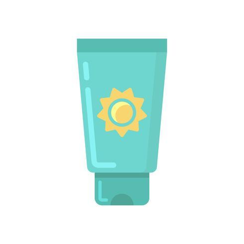 Flache Symbol für Sonnenschutzmittel