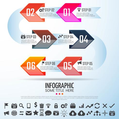 Arrow Infographics Design Mall vektor