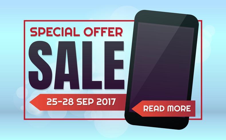 Fundo de vetor de venda de telefone