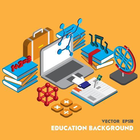 illustratie van info grafische onderwijs set concept