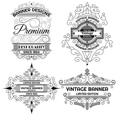 Modèle de conception étiquette de fond vintage