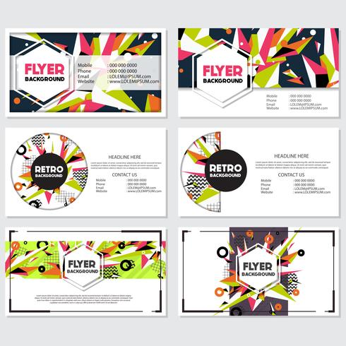 Low Poly Flyer style background Design Template