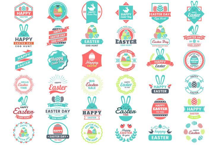 Easter Day Vector Logo for banner