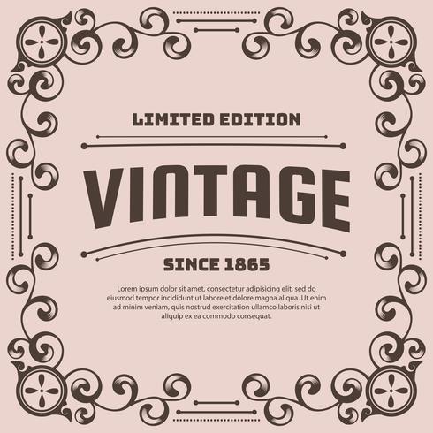 Fondo de flyer vintage diseño plantilla vector