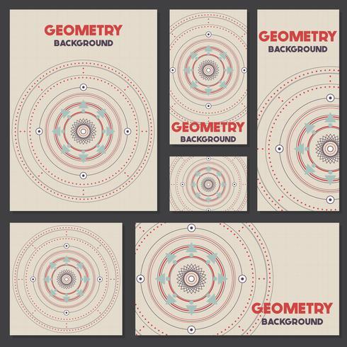 Geometria retro velha modelo de Design de fundo estilo vintage
