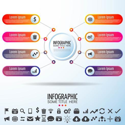 Cirkel Infographics ontwerpsjabloon vector